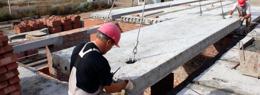 Монтаж железобетонных плит