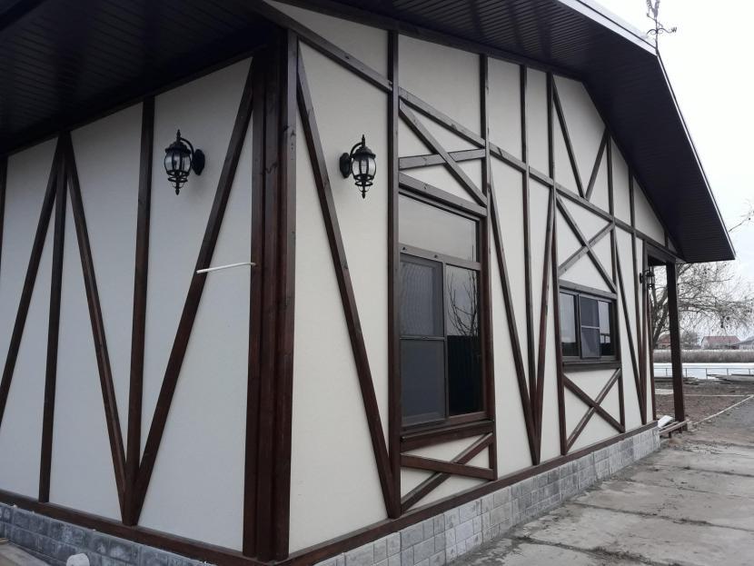 Пример отделки фасада с имитацией фахверка