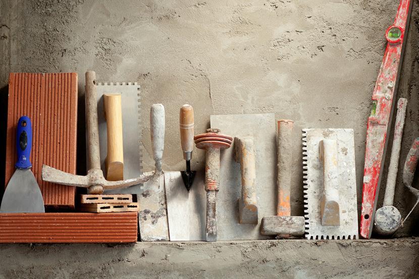 Инструменты для оштукатуривания пеноплекса снаружи дома