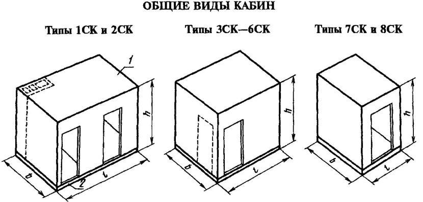 Виды сантехкабин для построек из железобетонных панелей