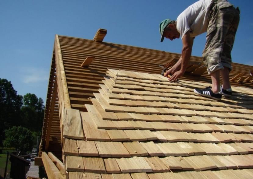 Поперечный метод укладки тесовой крыши