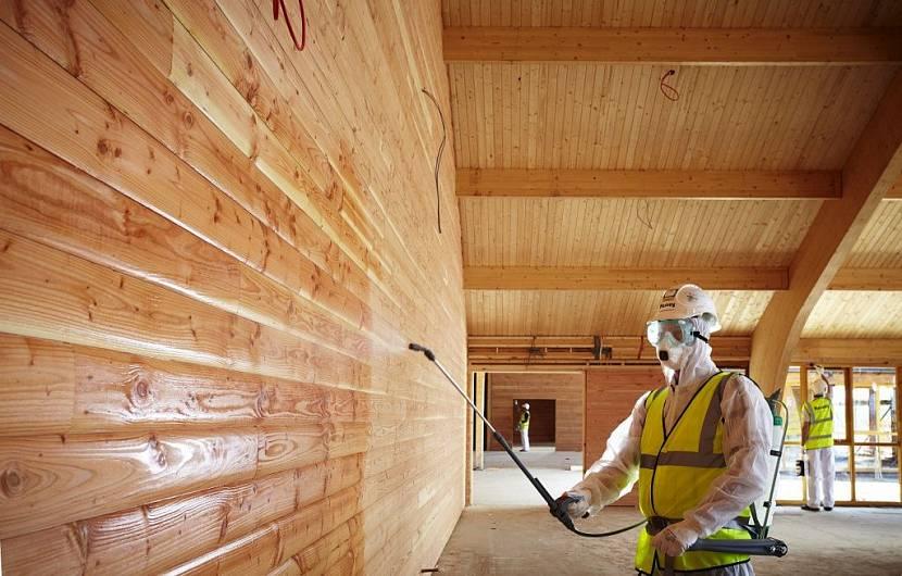 лак для внутренней отделки деревянного дома