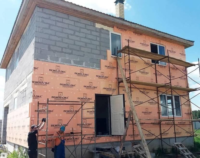 Фасад с утеплением из экструдированного пенополистирола