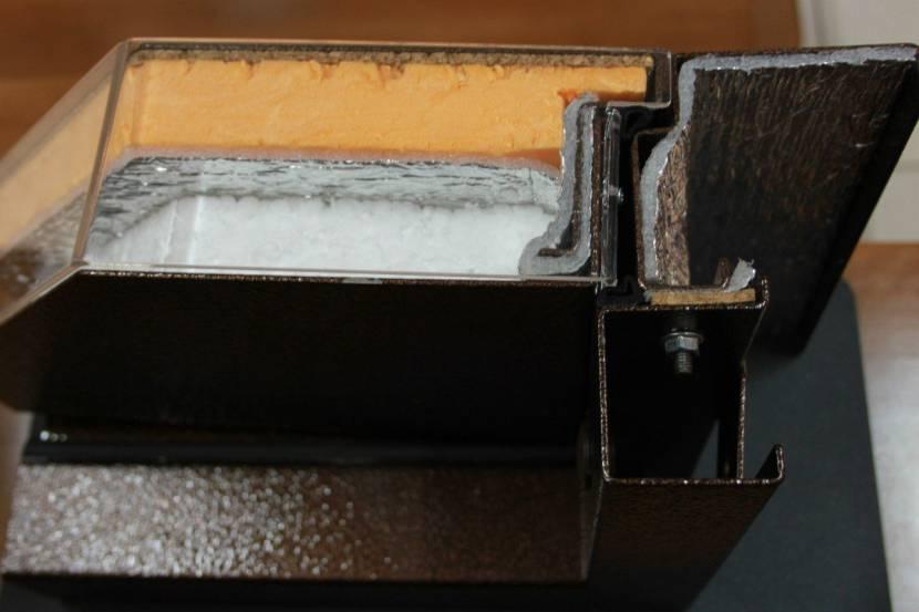 Срез металлической двери