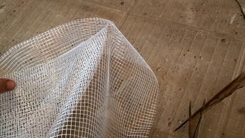 Стекловолоконная сетка для стяжки пола