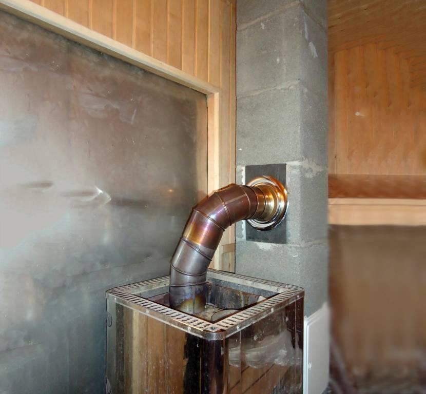 Дымоход металлической печки нужно постоянно чистить