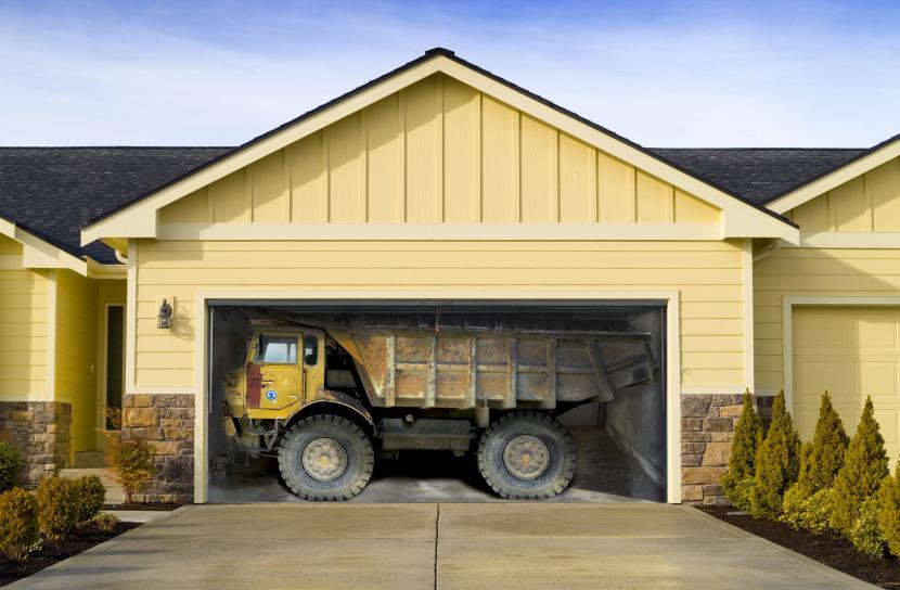 Наклейка на гараж