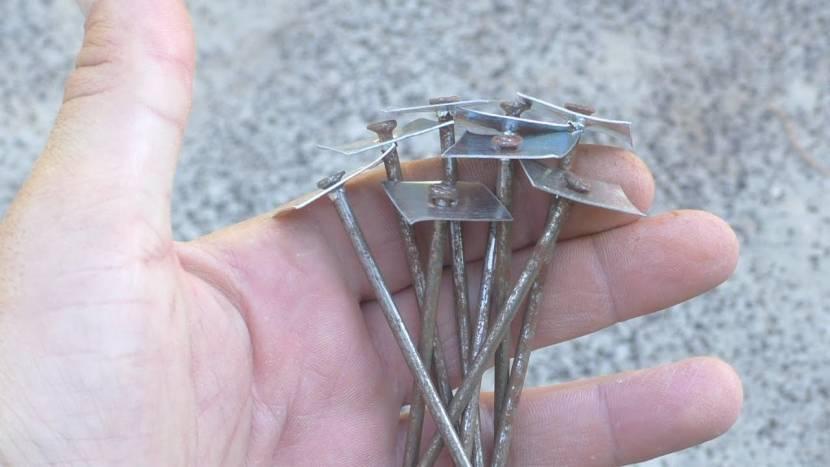 Простейший вариант шиферного крепежа
