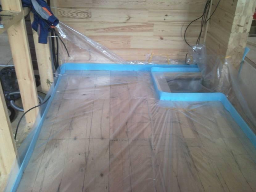 Подготовка для стяжки под тёплые полы