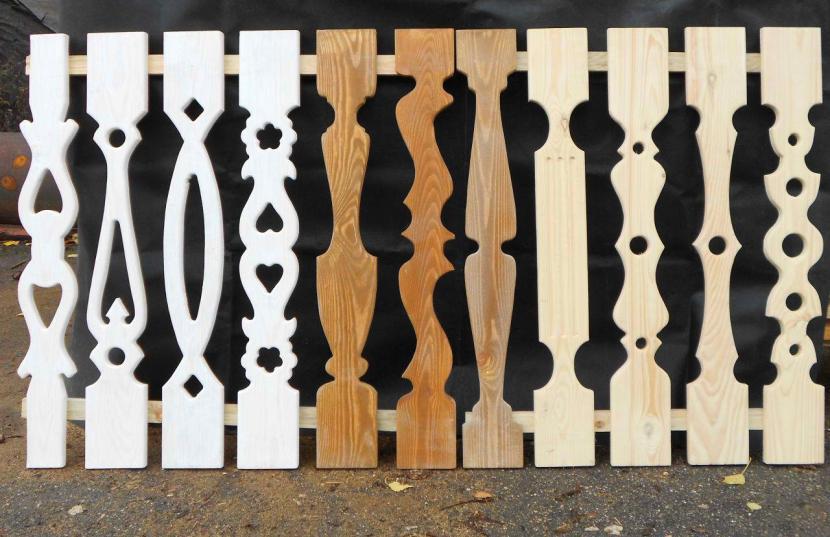 Варианты дизайна плоских балясин