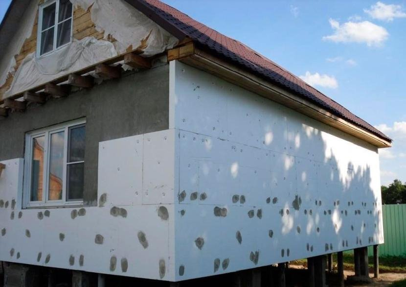 Утепление фасада пенополистиролом
