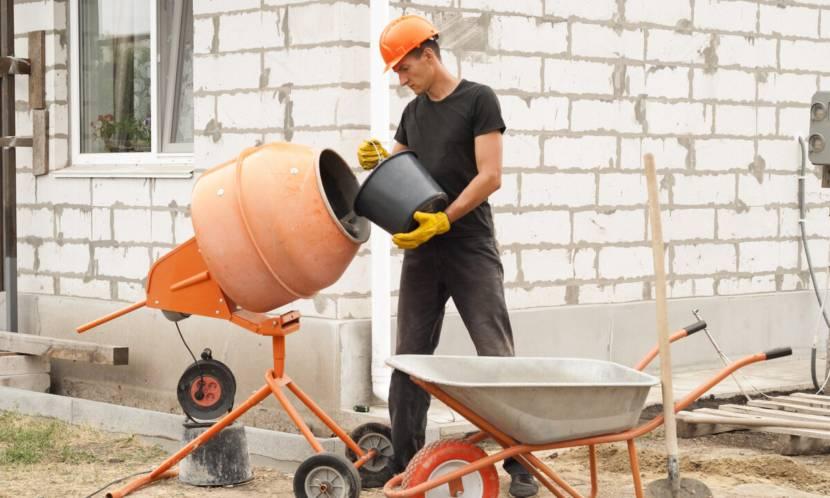 Приготовление раствора на стройплощадке