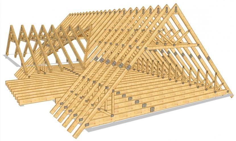 Крыша из ферм треугольной формы