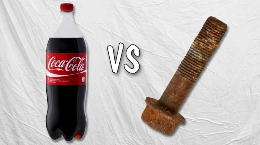 Pepsi легко справится со ржавчиной на небольших участках