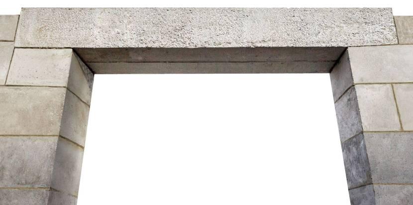 Монолитные оконные перемычки из монолитного бетона класса в20