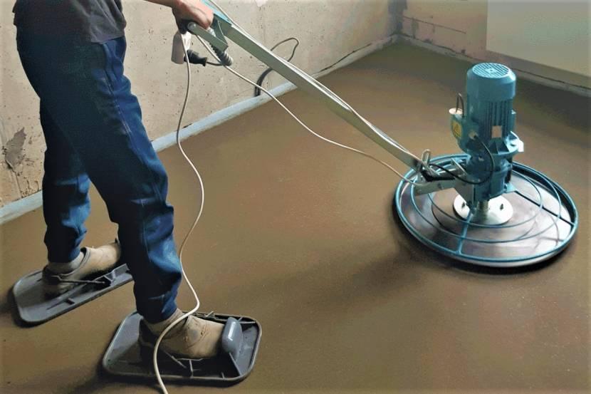 Шлифование полусухого бетона