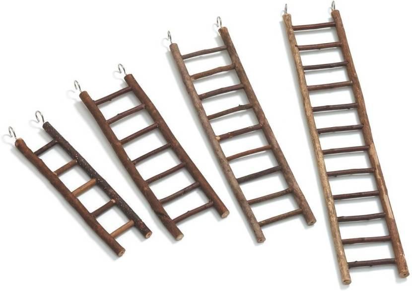 Деревянные приставные лестницы с металлическими крючками