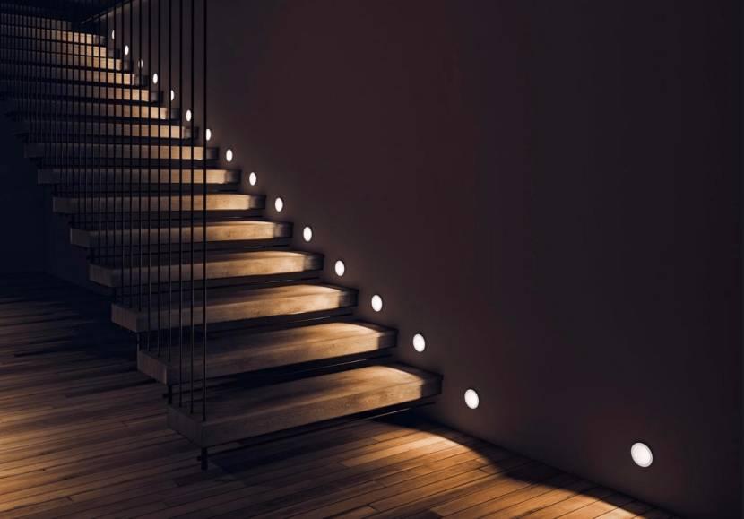 Боковая подсветка в современном стиле