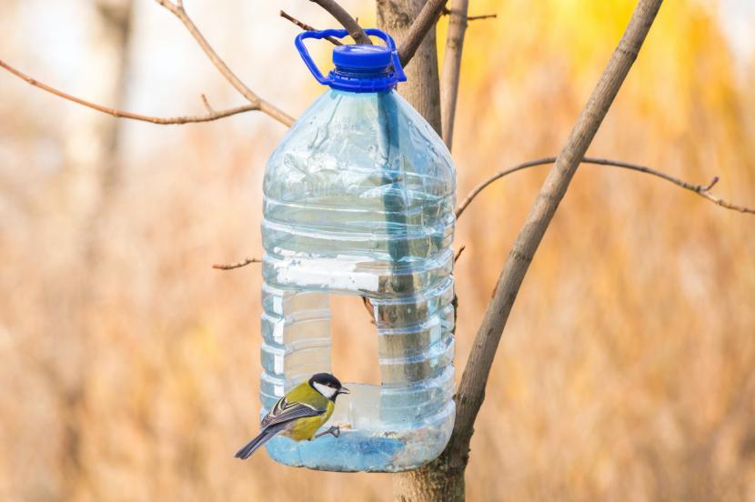 Кормушка из пластиковой бутылки на 5-6 л