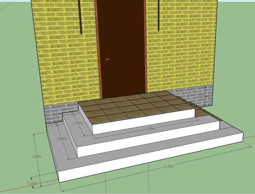 Пример устройства площадки перед входом