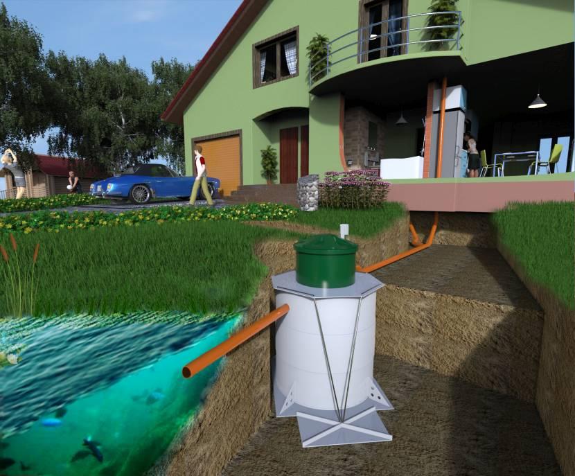 Локальная очистная канализационная конструкция