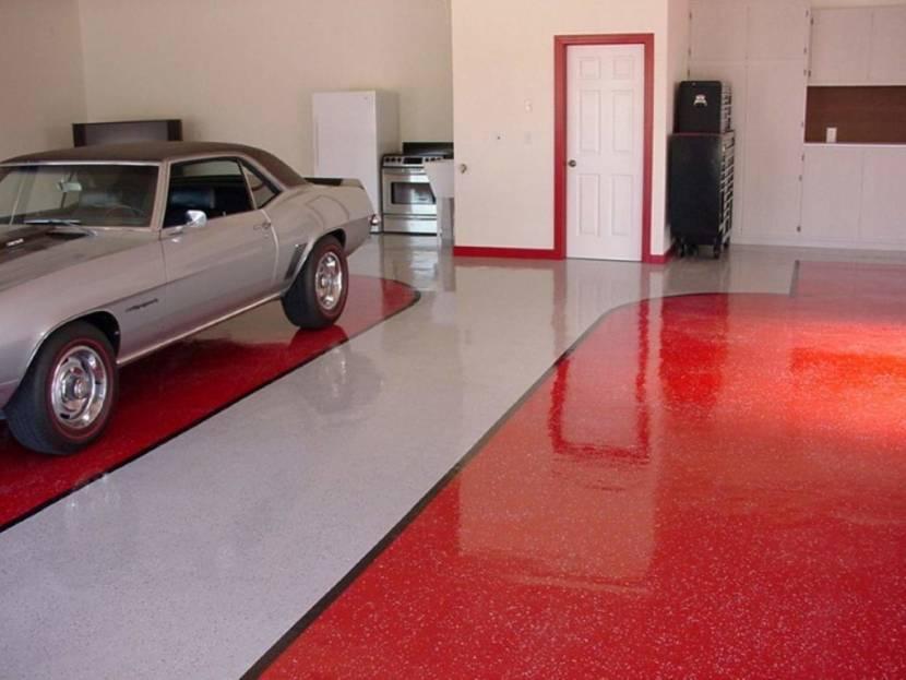 Наливные полы из полимеров для гаража