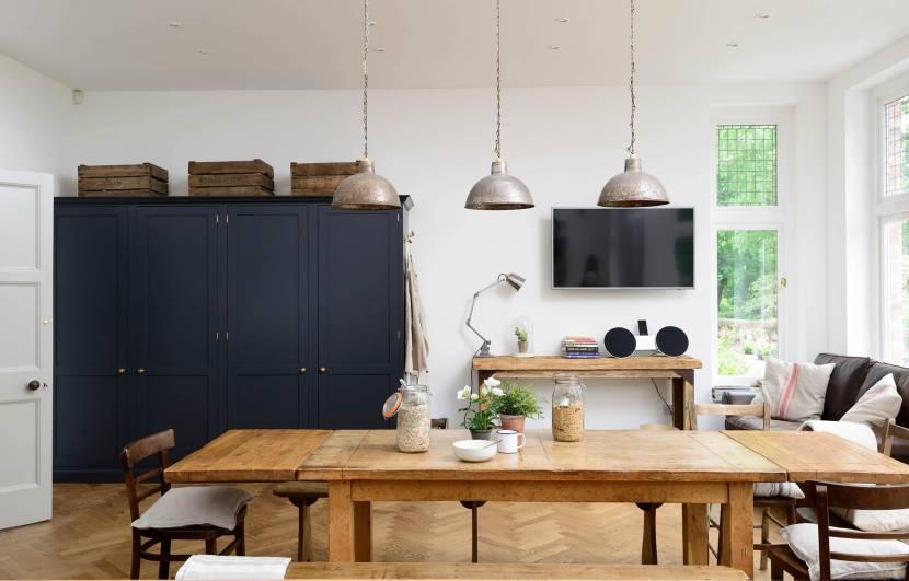 Элегантная упрощенность мебели: кухня в стиле крафт