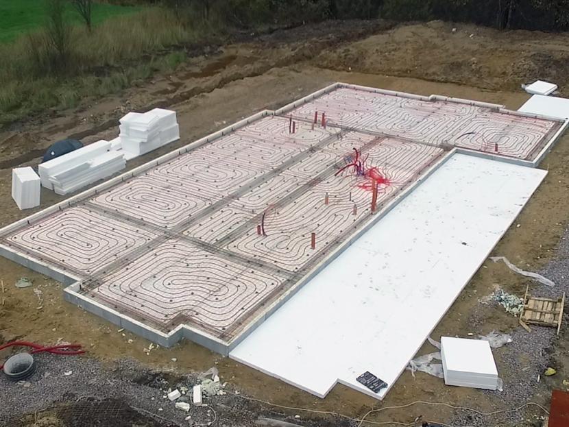 Фундамент УШП на стадии обустройства арматурного каркаса