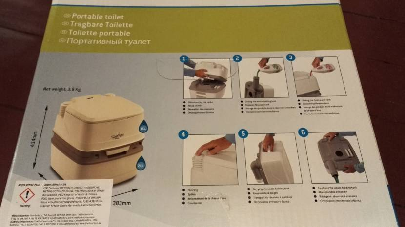 Эксплуатация портативного туалета