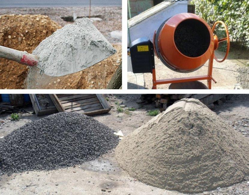 Для приготовления бетона используют цемент, гравий, песок и воду