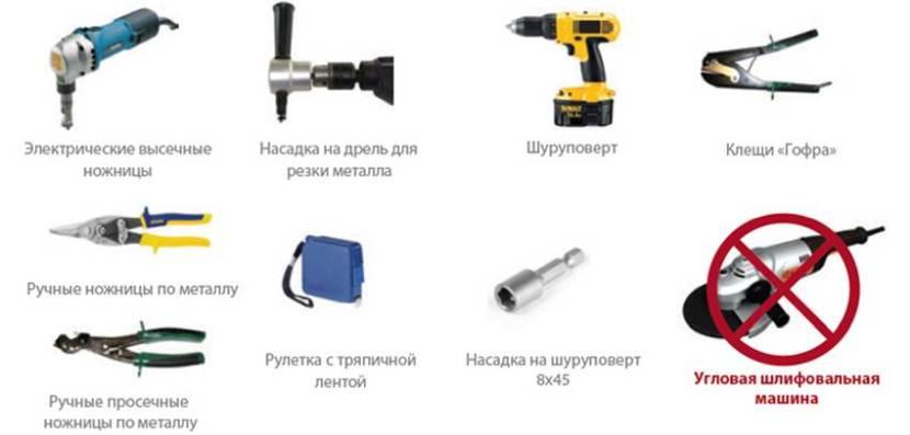 Инструмент, который потребуется для работы