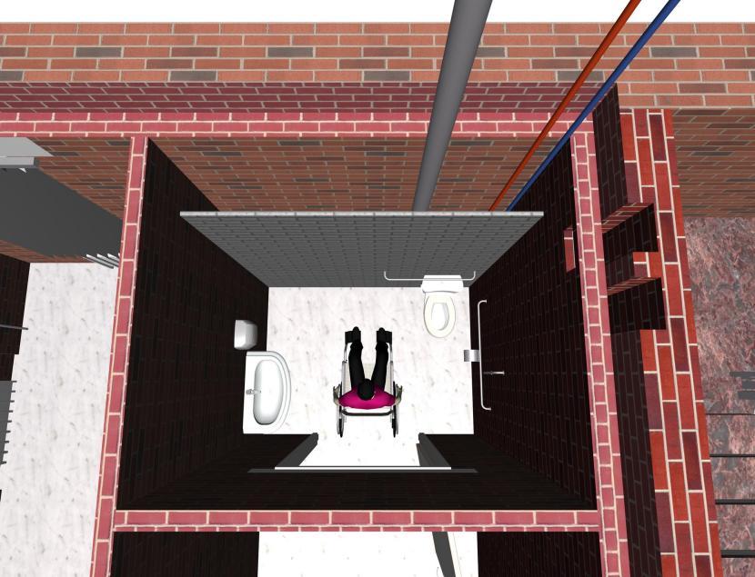 Санузел для маломобильного человека должно находиться на первом этаже