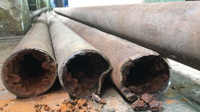 Пример трубы с дефектами