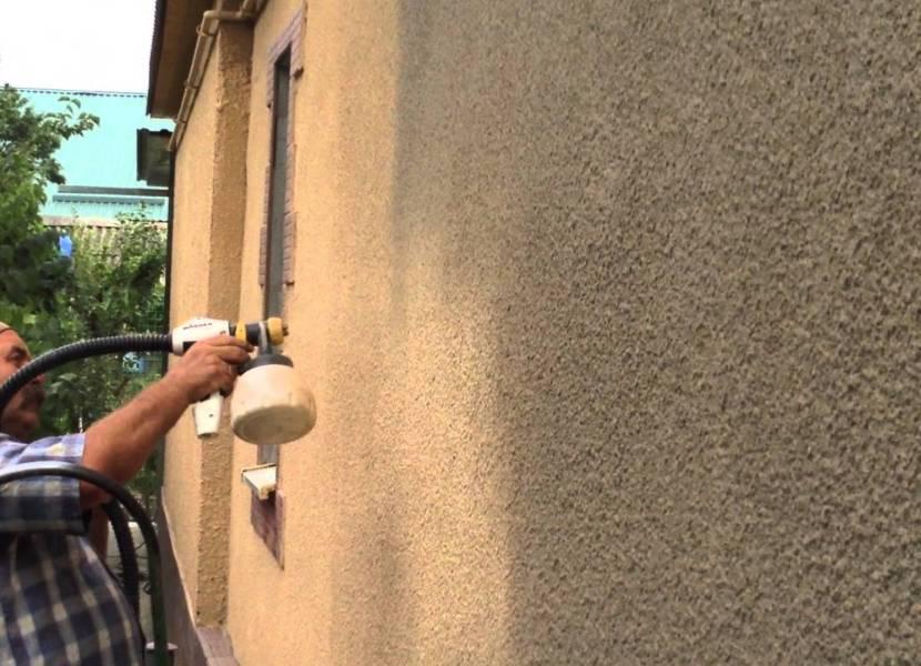 Покраска бетонной шубы