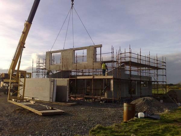строительство дома из ж/б панелей