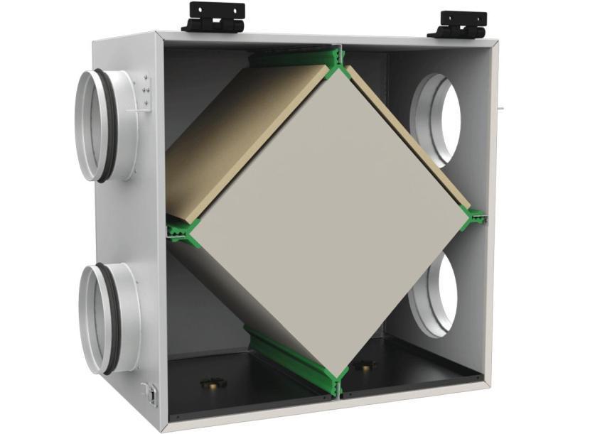 Образец пластинчатого рекуператора воздуха