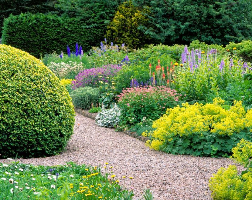 Живописный уголок сада
