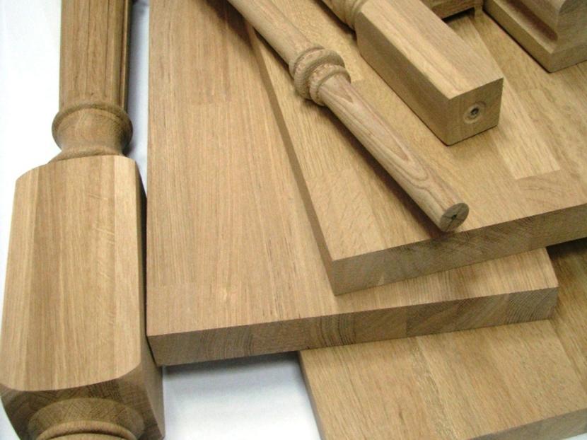 Стандартные деревянные детали для лестниц