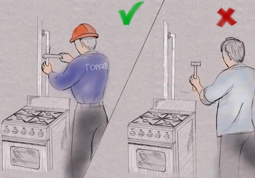 Самостоятельная установка газового счетчика запрещена