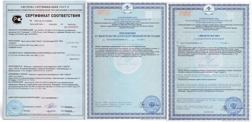 Применяйте только сертифицированные составы