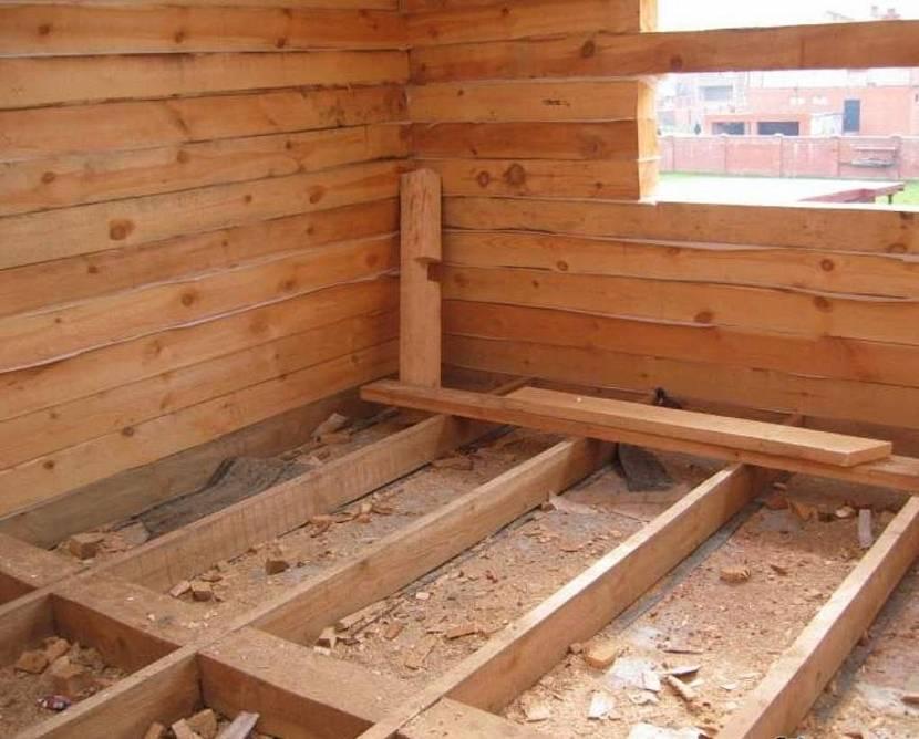 построить брусовую баню под усадку