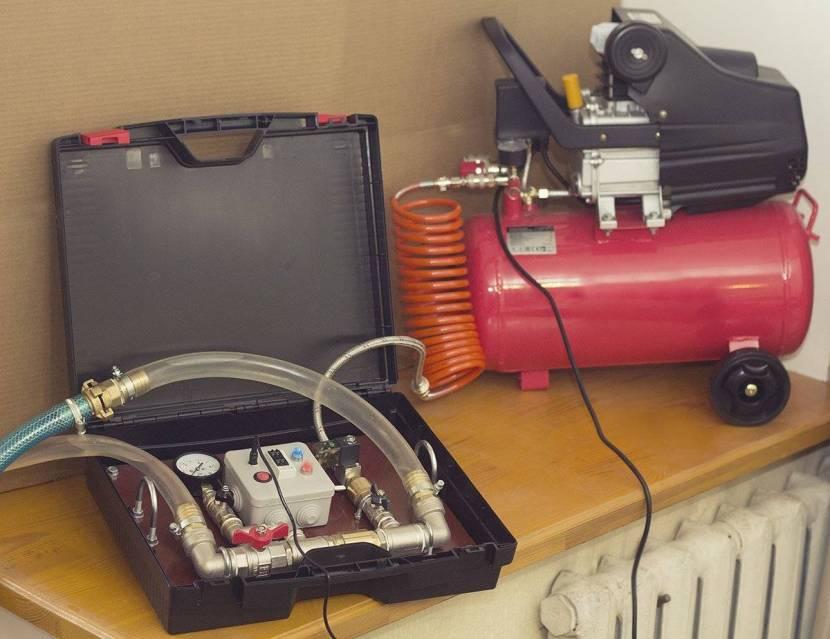 Гидропневматическая промывка производится компрессором