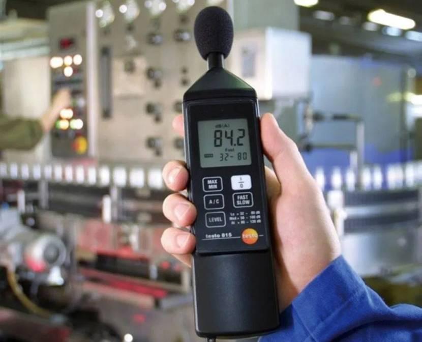 Измерение уровня шума на предприятии