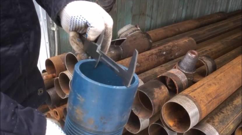 Обсадные трубы нужно выбирать с учетом диаметра напорного трубопровода