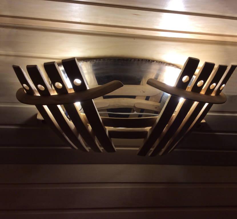 Декоративная решётка для банного светильника