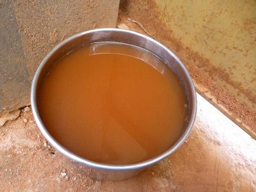 Грязная, мутная вода из колодца