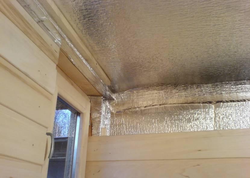 Пароизоляция потолка с отражающим тепло покрытием