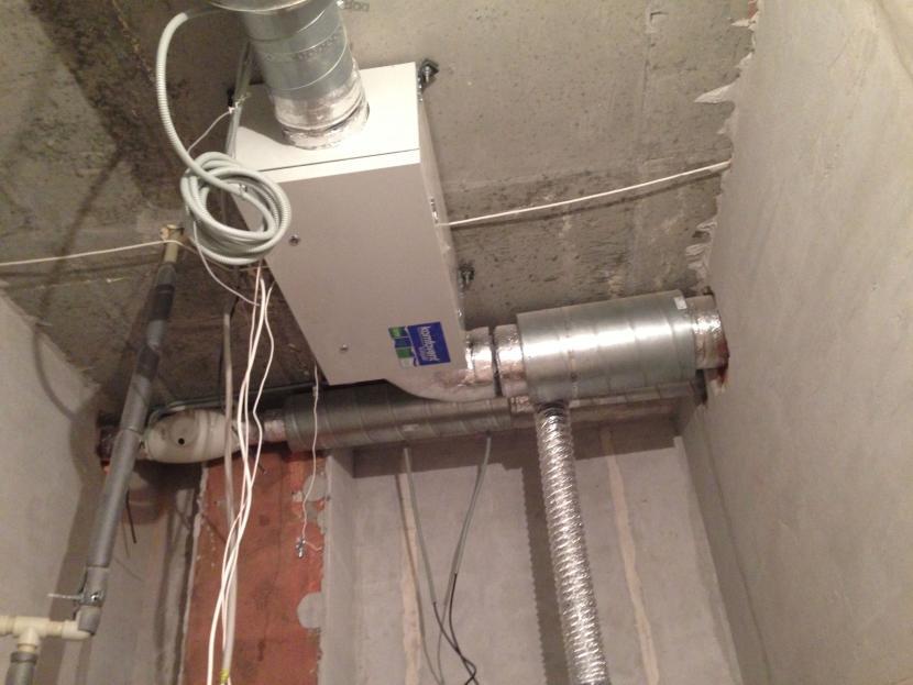 Вариант установки приточной вентиляции