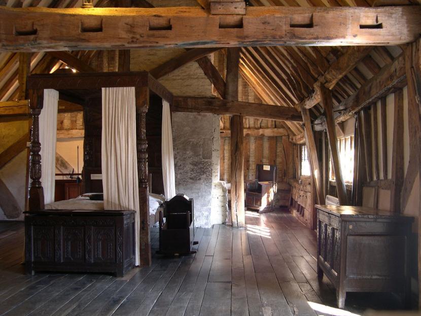 Интерьер старого фахверкового дома