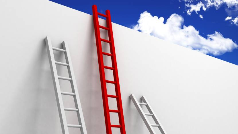 Лестницы деревянные приставного типа различной высоты